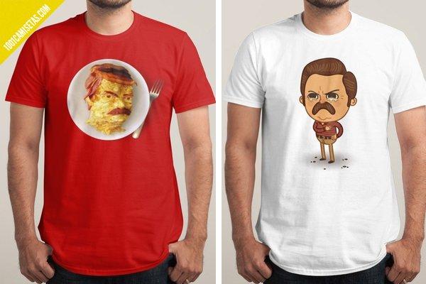 Camisetas ron swanson