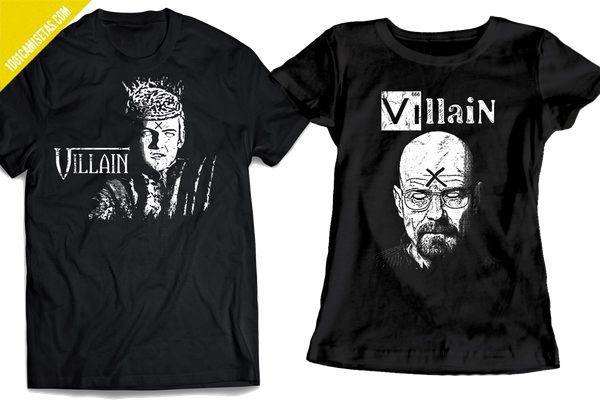Camisetas series villanos