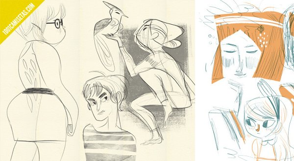 Meg  Hunt sketches
