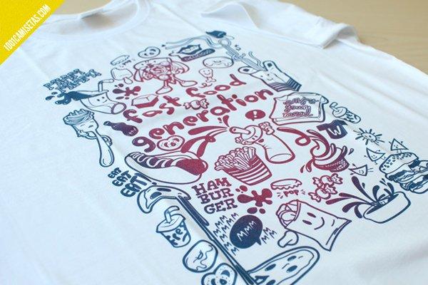 Camiseta fast food generation