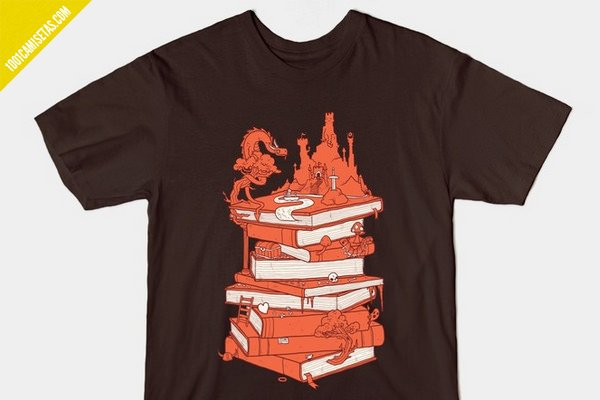 Camiseta magic of books