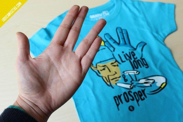 Camiseta spock strar trek