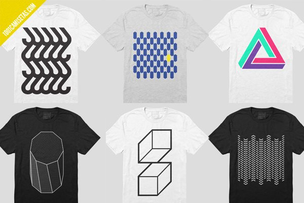 Camisetas geométricas sans form