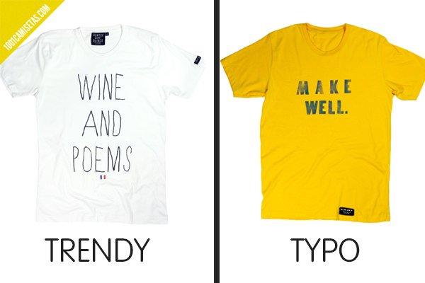 Camiseta trendy typo