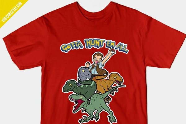 Camiseta jurassic world pokemon