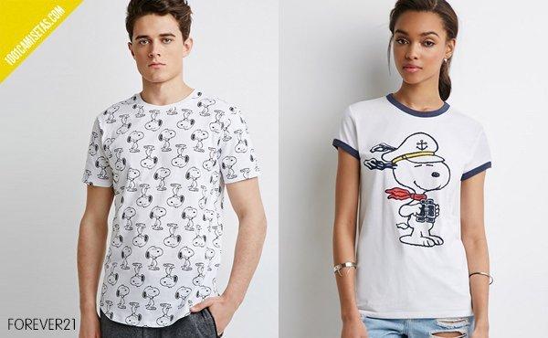 Camiseta snoopy forever 21