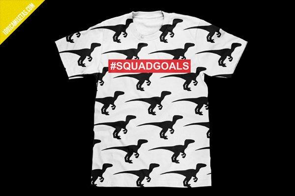 Camiseta velociraptors squadgoals