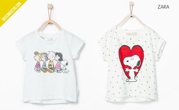 Camisetas infantiles snoopy