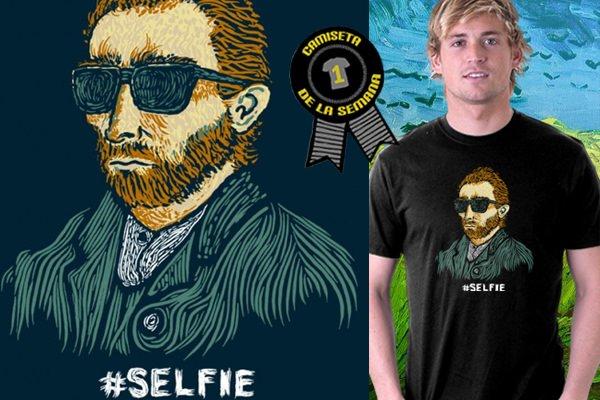 Camiseta selfie van gogh
