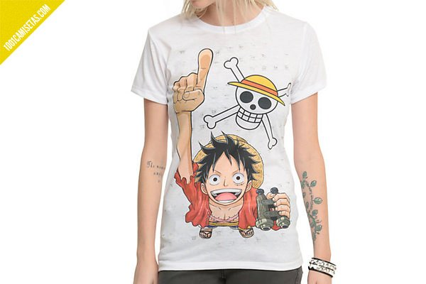Camisetas one piece monkey d.luffy