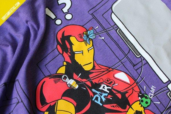 Camiseta iron man serigrafía