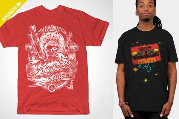 Camisetas guardianes de la galaxia