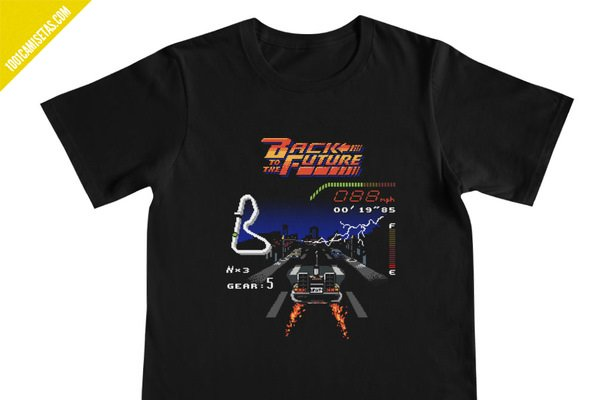 Camiseta delorean regreso al futuro