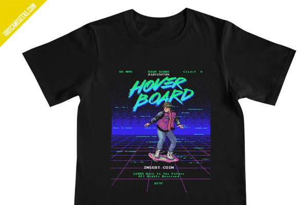 Camiseta hoverboard regreso al futuro