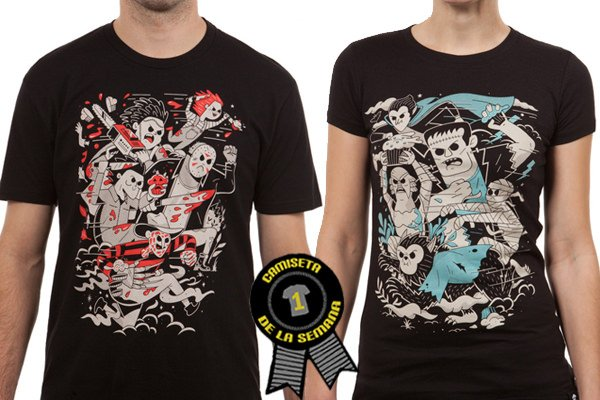 Camiseta semana fright club box johnny cupcakes