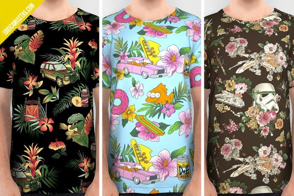 Camisetas full print jurassic park