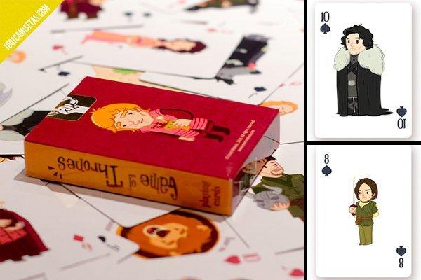 Baraja cartas juego de tronos