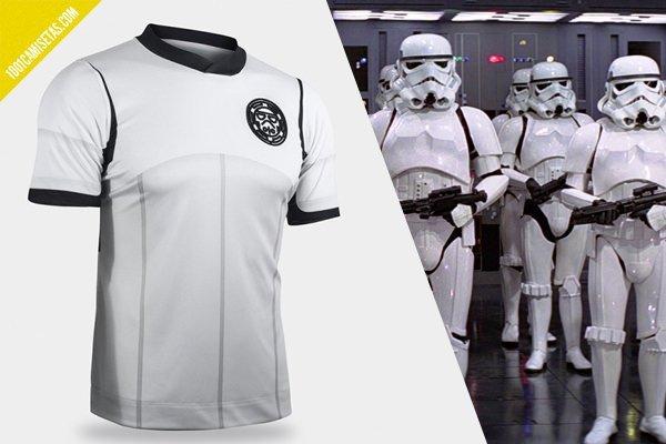 Camiseta fútbol stormtrooper