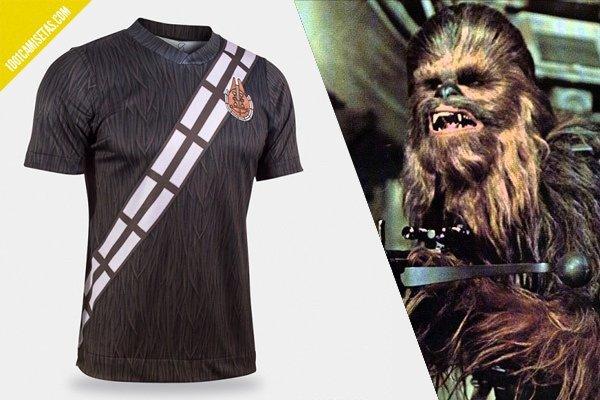 Camiseta fútbol chewbacca