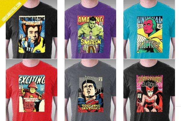 Camiseta musica comic