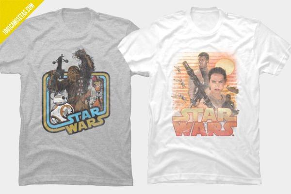 Camisetas star wars despertar de la fuerza