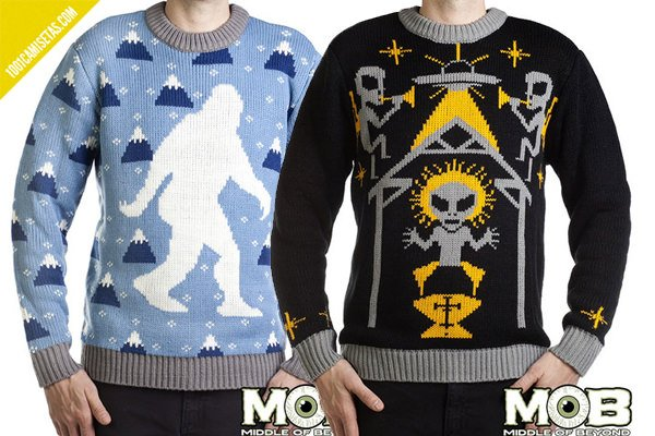 Ugly christmas sweaters mob