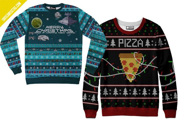 Ugly christmas sweaters pizza