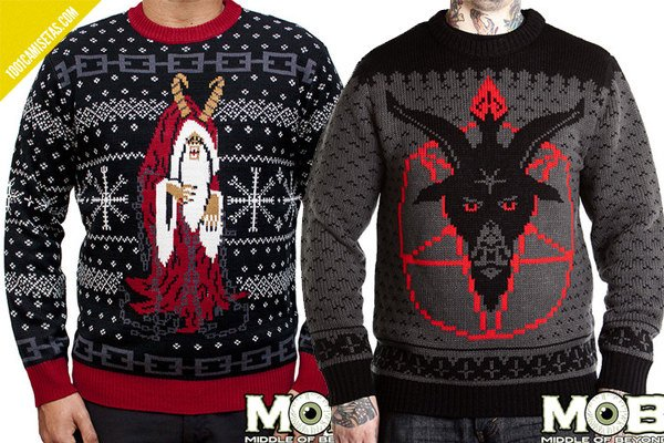 Ugly christmas sweaters satan