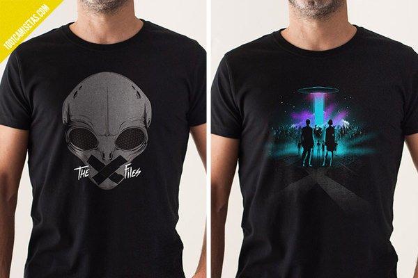 Camiseta alien expediente-x