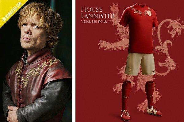 Camisetas futbol lannister