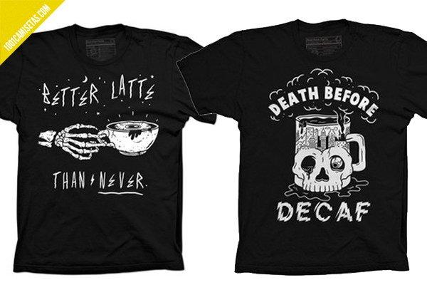 Camisetas pyknic café
