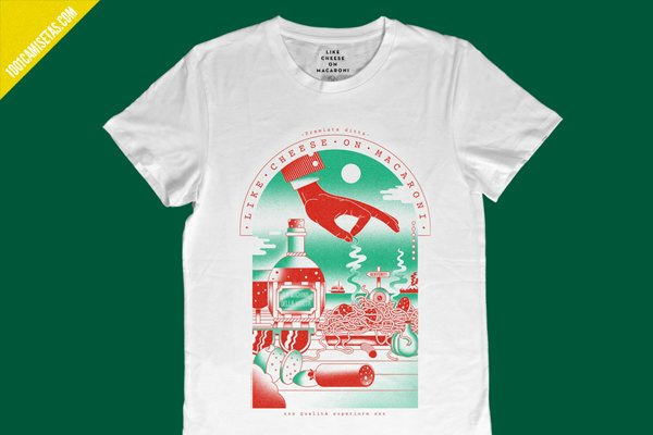 Camiseta comida italiana