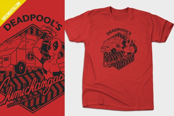 Camiseta deadpool chimichangas