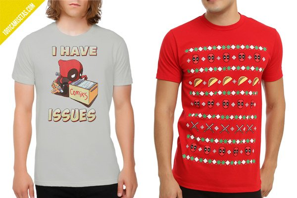 Camisetas deadpool chimichangas