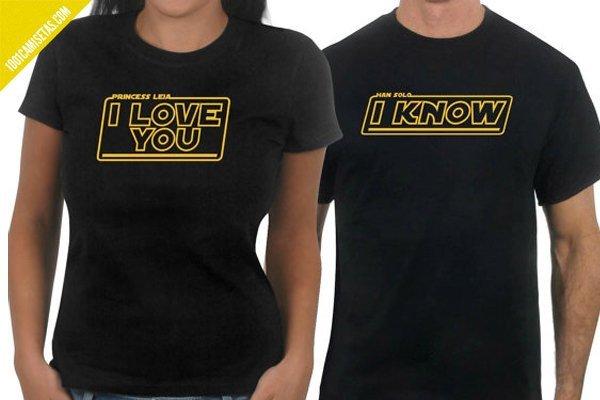Camisetas star wars san valentin