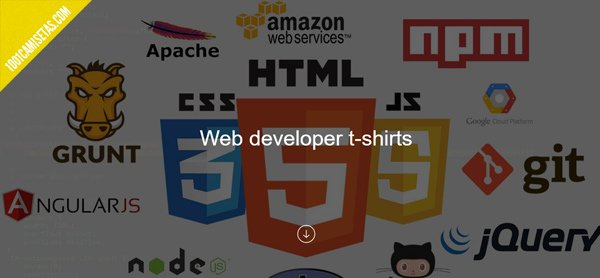 Camisetas web developer