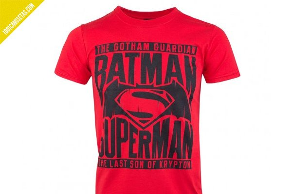 Camiseta batman superman