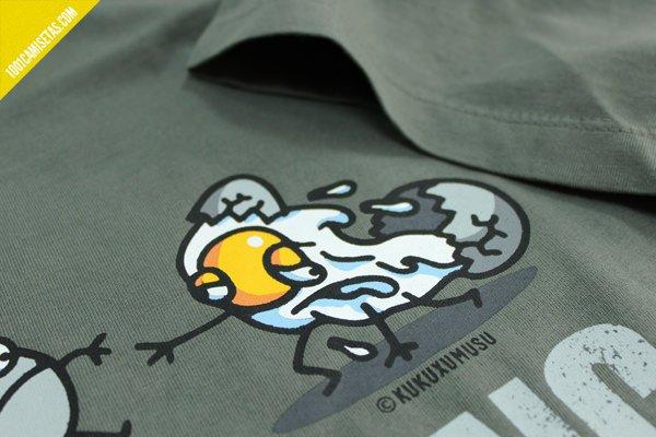 Camiseta the walking egg
