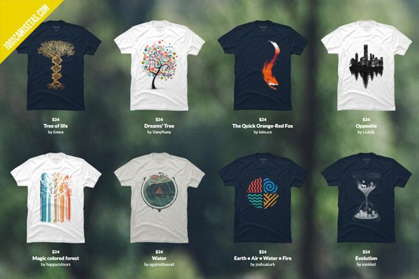 Camisetas earth day