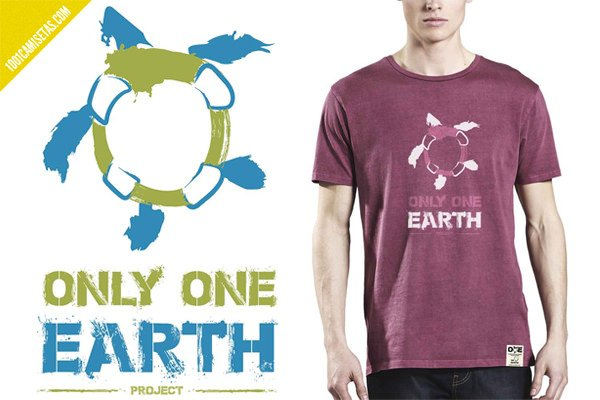 Camisetas only one earth