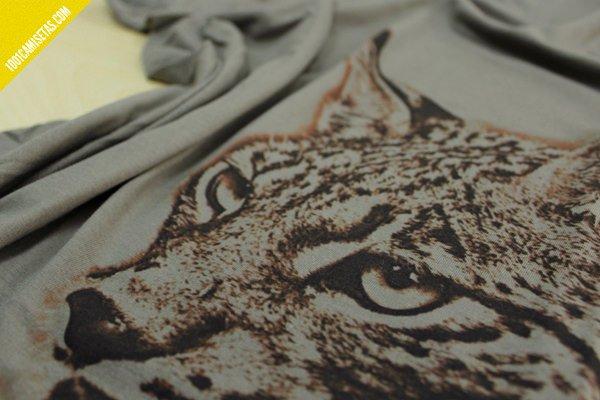 Camiseta lince impresion digital