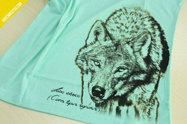 Camiseta lobo fauna iberica somos fauna
