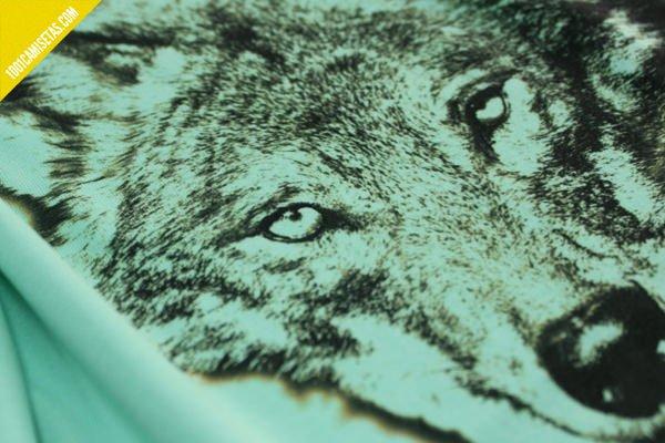 Camiseta lobo impresion digital