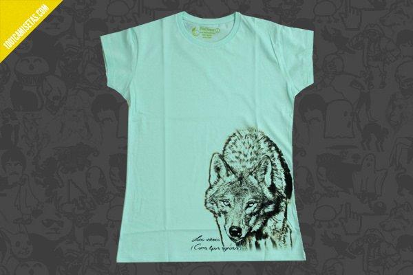 Camiseta lobo somos fauna