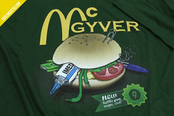 Camiseta mcgyver
