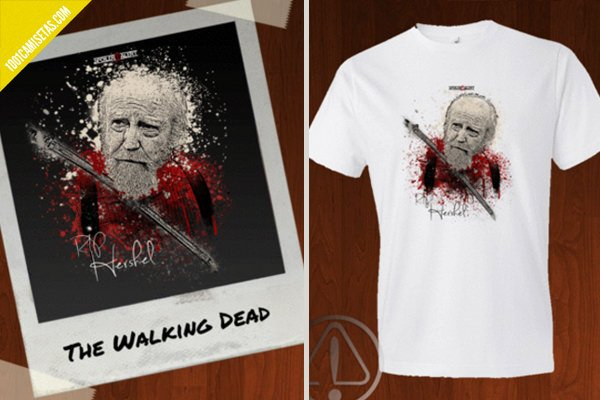 Camiseta the walking dead spoiler