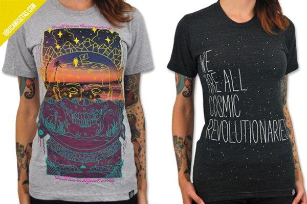 Camisetas cosmicas venus fallen