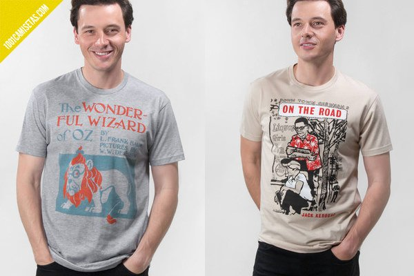 Camisetas de libros out of print