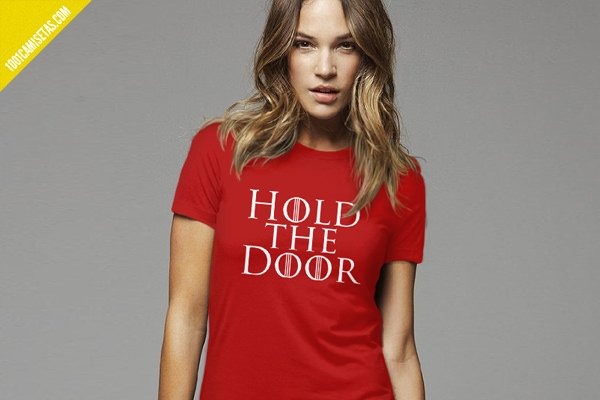 Camisetas hold the door