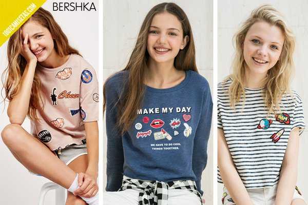 Camisetas parches bershka
